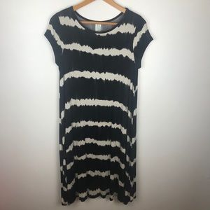 Bellamie Stripped  Stretch Midi Dress Size S